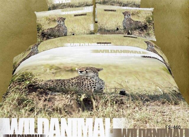 Linnen Dekbed Slaapkamer : 3d jaguar leopard cheetah beddengoed sets queen size dekbed