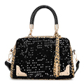 New Women Sequin Leopard Messenger Cross Shoulder Bag Handbag