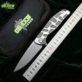 Groene doorn Flipper 95 D2 staal blade T modus Titanium handvat outdoor camping jacht pocket keuken fruit zakmes EDC tool