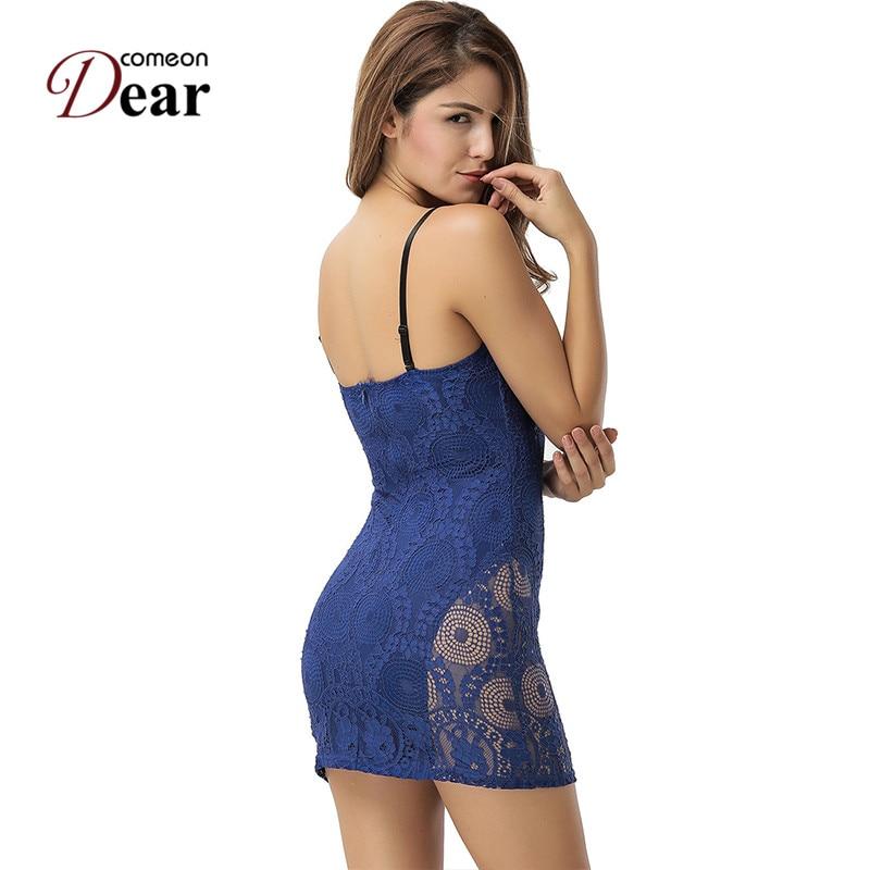 Comeondear RA80463 Blaues Bodycon-Kleid Lässige - Damenbekleidung - Foto 3