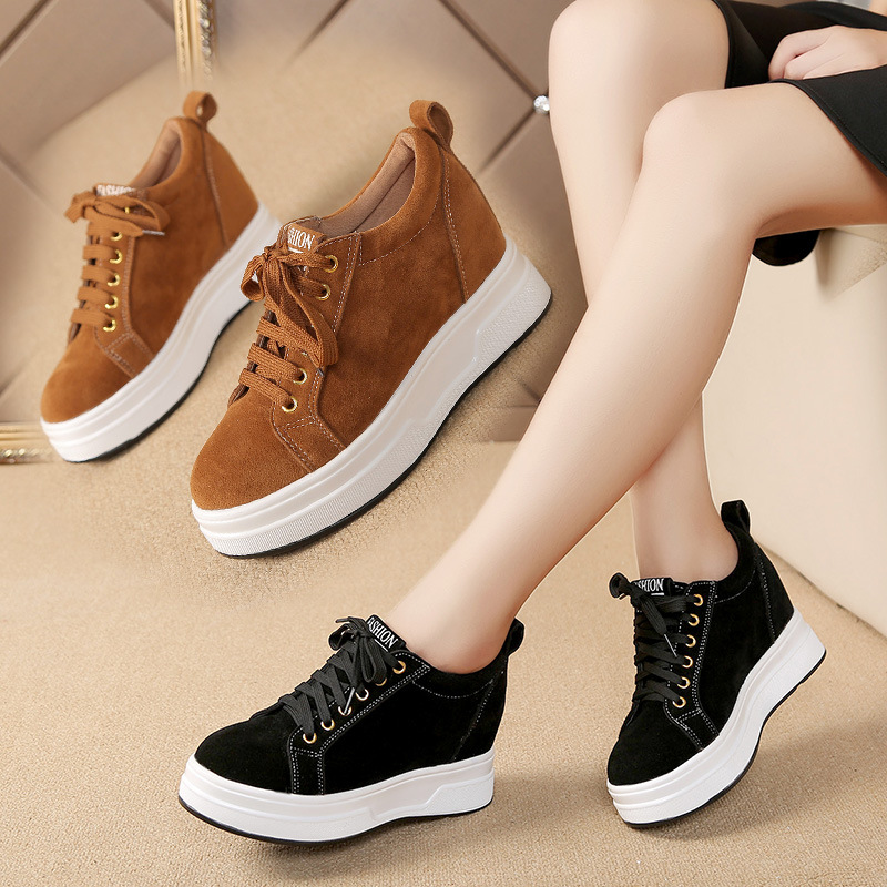 top 2017 new fall Scrub lether running shoes female sport shoes for women flats joggign shoes slip on leather car walking shoes
