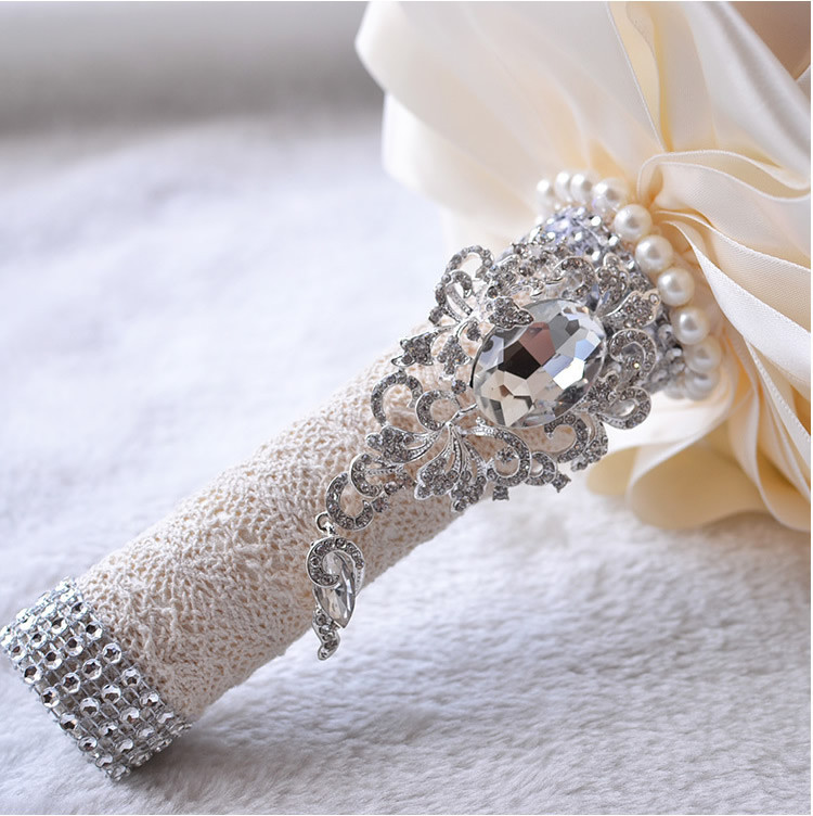 Rose Crystal Wedding Bouquet Beaded Brooch bouquet wedding accessories Bridesmaid artifical Wedding flowers Bridal Bouquets