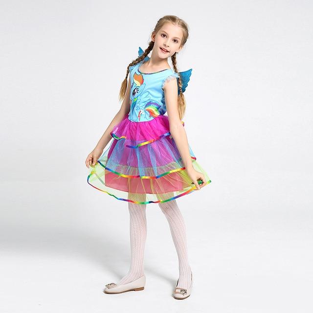 c8604cda2c42 Umorden Halloween Costumes for Girls Rainbow Unicorn Costume Girl ...