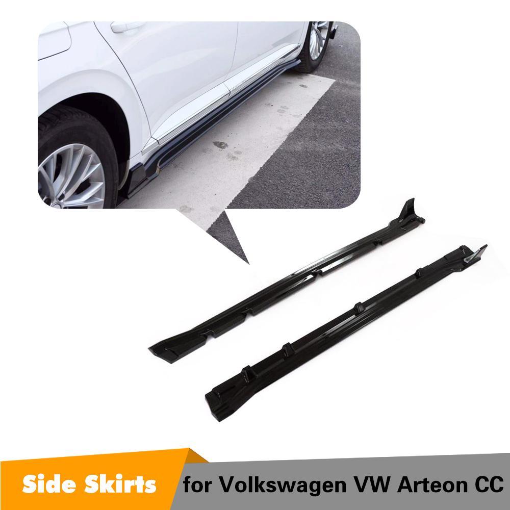 Pour Volkswagen VW CC Arteon brillant noir côté jupe corps kit 2019 2020 jupes latérales lèvre menton Spoiler