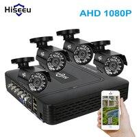 Hiseeu 4CH CCTV System 1080P HDMI DVR Kit 4PCS 720P 1 0MP Security Cameras 1200TVL Surveillance