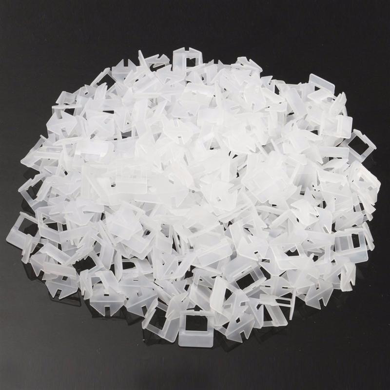 200pcs Tile Leveling System Clips Kit Wall Floor Tile Spacer Tiling Tool 1.0mmConstruction Tool Parts   -