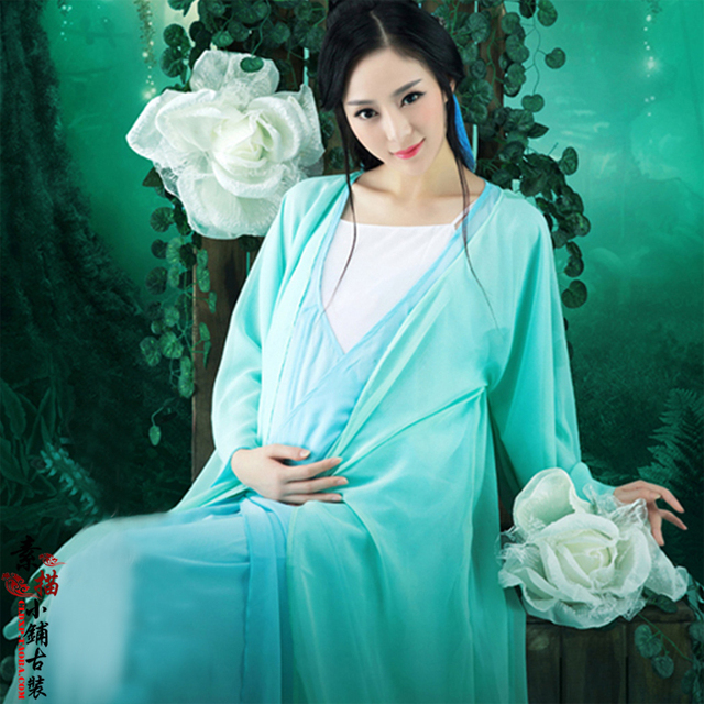 21b3dc95d Qie Ting Feng Yin Pregnant Mummy Thematic Costume Hanfu for Women Tang  Dynasty Loose Costume Hanfu