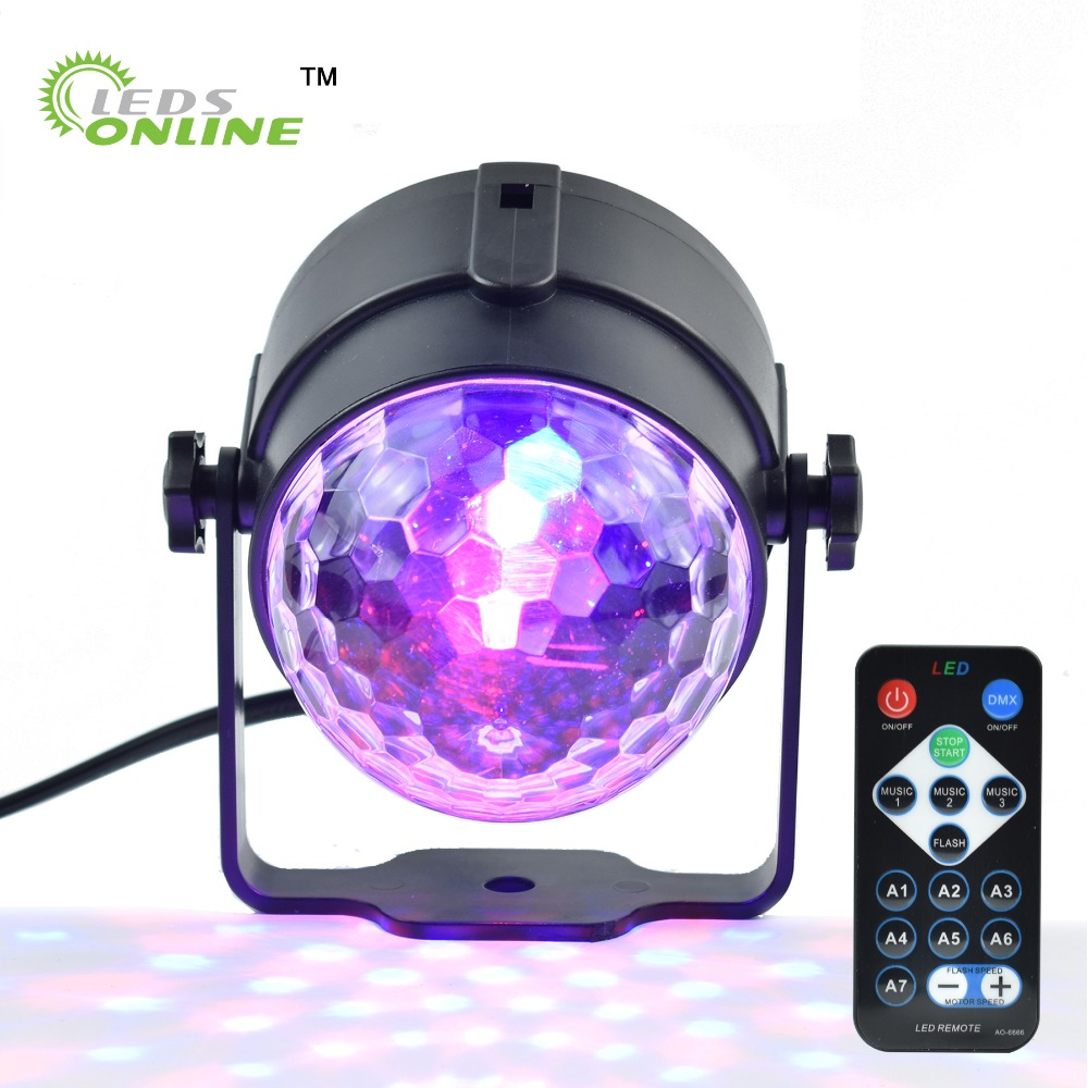 Stage Lighting Effect Holiday Projector EU/US LED RGB Crystal Mini Magic Ball Stage Effect Lights with Remote Control