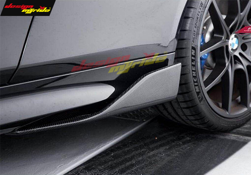 For Volkswagen Scirocco 2 doors Coupe Car Body Side Skirt Splitters Flaps 57cm E style Carbon Fiber Side skirts ADD ON Diffusers in Body Kits from Automobiles Motorcycles