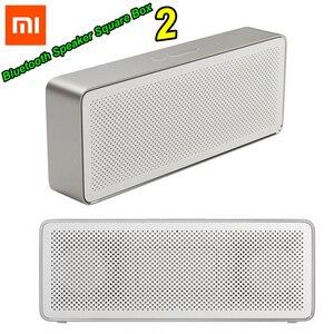 Image 1 - Xiaomi Mi głośnik Bluetooth kwadratowe pudełko 2 Stereo przenośny Bluetooth 4.2 HD wysokiej rozdzielczości jakość dźwięku odtwarzaj muzykę