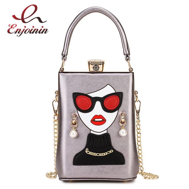 نظارات عالية الجودة مثير امرأة نمط بولي Casual المرأة عادية محفظة حقيبة يد حقيبة كتف الإناث مستحضرات التجميل حقيبة كروسبودي بولسا