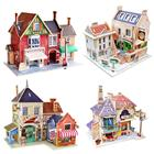 British Series World Sights 3D Wooden House Puzzle Children's Educational Puzzle Toy