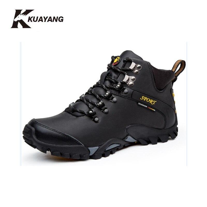Nouvelles bottes d'hiver chaussures hommes militaire chuteira cheville botas hombre en cuir chaussure homme erkek bot noir Hiver moyen b, m)