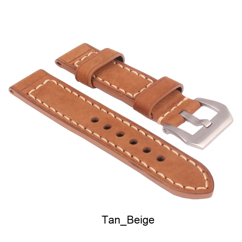 ZLLB05Y_D_Leather_Watchband_Tan_Beige_Silver Buckle