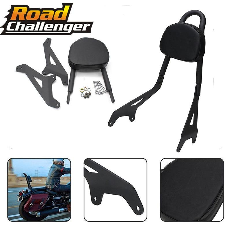 For Yamaha Star Bolt 950 XV950 XVS950 2014-2017 Black Motorcycle Backrest Rear Passenger Sissy Bar Bracket W/ Cushion Pad