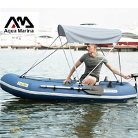 Надувные 3 preson Рыбалка надувная лодка 340*134 см алюминий весло ручной насос нести мешок ремонта комплект защиты от солнца дополнительно A07006
