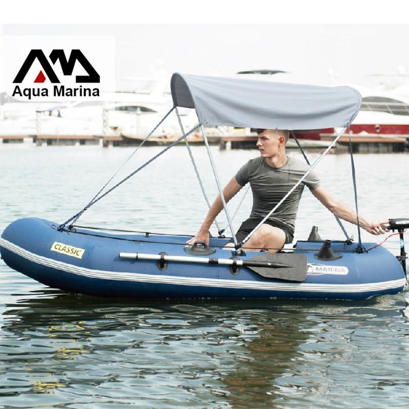 Gonflable 3 preson pêche bateau gonflable 340*134 cm Aluminium oar pompe à main sac de transport kit de réparation parasol en option A07006