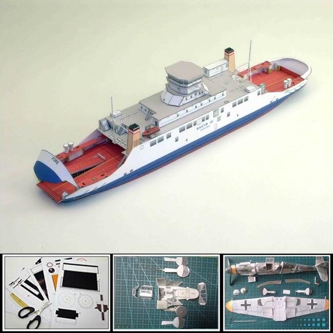 Hot 2016 Paper Ship Model Norwegian Double Ended Ferry