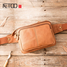 AETOO Messenger Bag Men Shoulder Bag Male Genuine Leather Men's bags Man Small Flap Casual Crossbody Bags for men handbags недорого