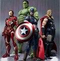 NUEVO caliente! 16 cm super hero avengers iron man hulk thor capitán américa figura de acción móvil juguetes juguete de navidad