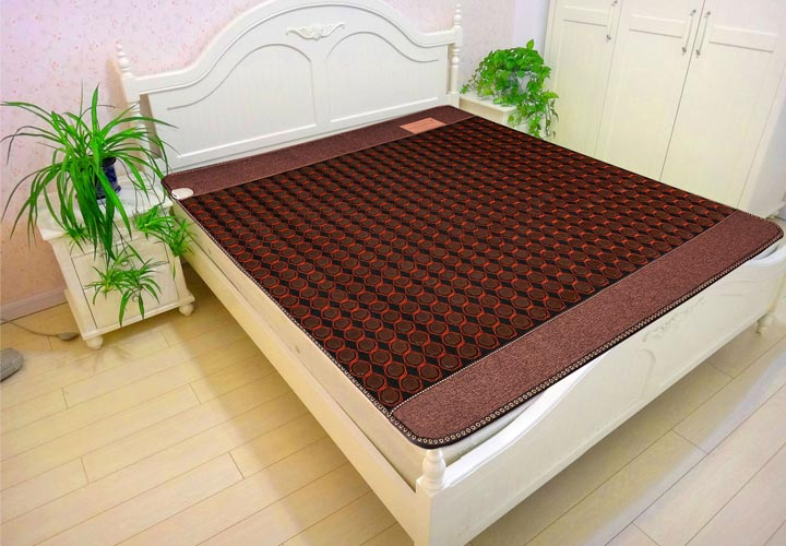 China Wholesale Hot Selling Health Products FIR Negative Ions Korea Mat Heating tourmaline Massage Mattress Free Gift eye cover health care free shipping body care mattress massage sofa mattress manufacturer in china hot new products for 2016 50cmx150cm
