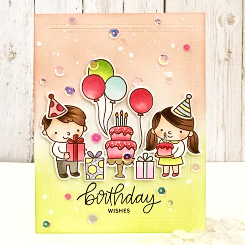 Birthday Wishes Boys Girls Transparent Stamps Clear for DIY Scrapbooking Paper Card Making Decorative Crafts Supplies 4*6