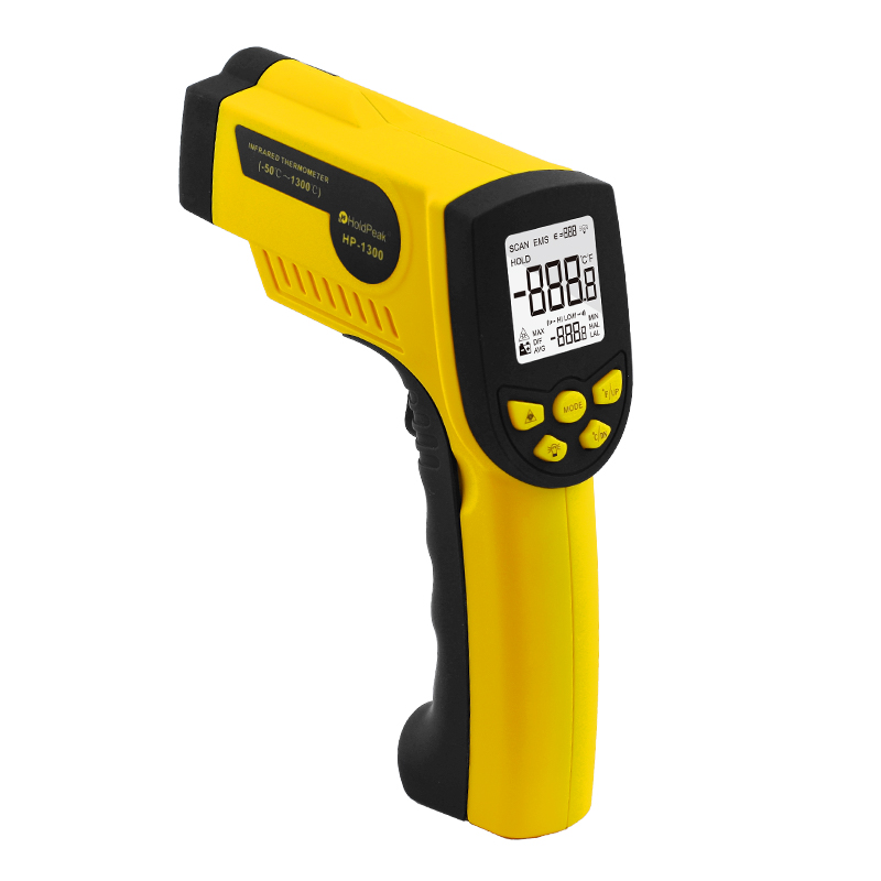 HoldPeak Outdoor Infrared Laser Digital Temperature thermometer 50~1300 HP-1300 For Digital Thermometer Temperature Instruments az8803 digital thermocouple thermometer with temperature range 50 1300 degree