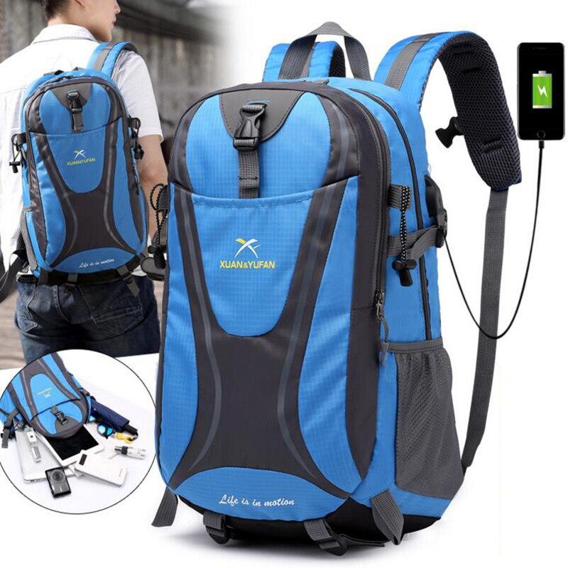 Backpack Outdoor Laptop Sports-Bag Teenager Waterproof Women Travel New Male Usb-Charging