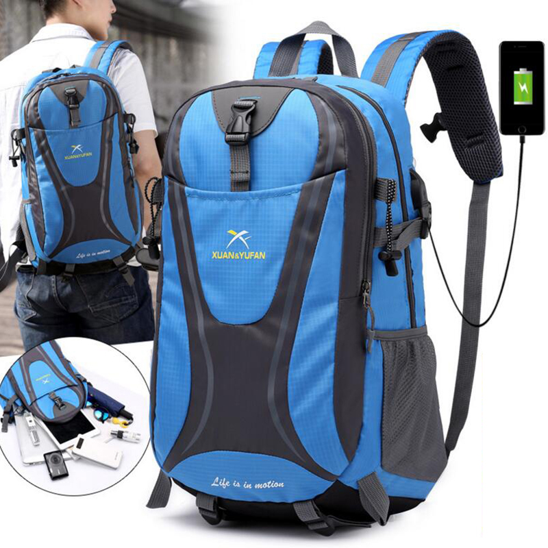 New With USB Socket Rechargeable Travel Bag for Male And Female Large Capacity Outdoor 15 inch