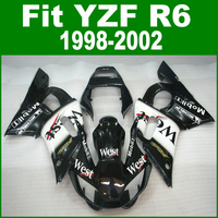 West Fairings For YAMAHA R6 98 1998 2002 top selling Fairing kit ( customize sticker ) ll07