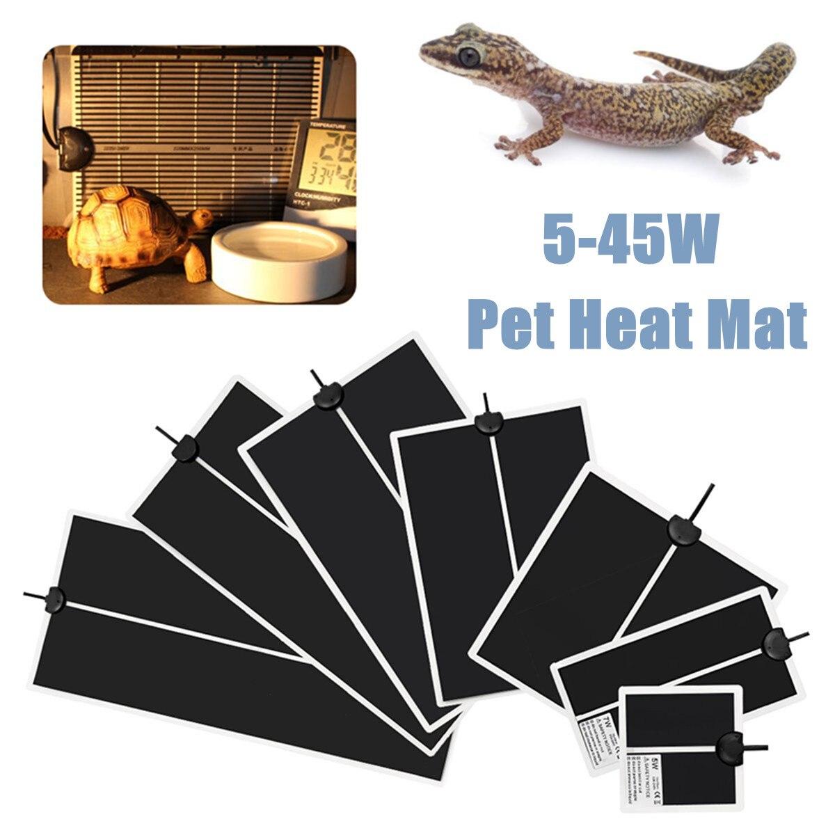 Рептилии для домашних животных термомат Террариум скалолазание теплые прокладки 5-45 Вт настраиваемый регулятор температуры коврики рептил...