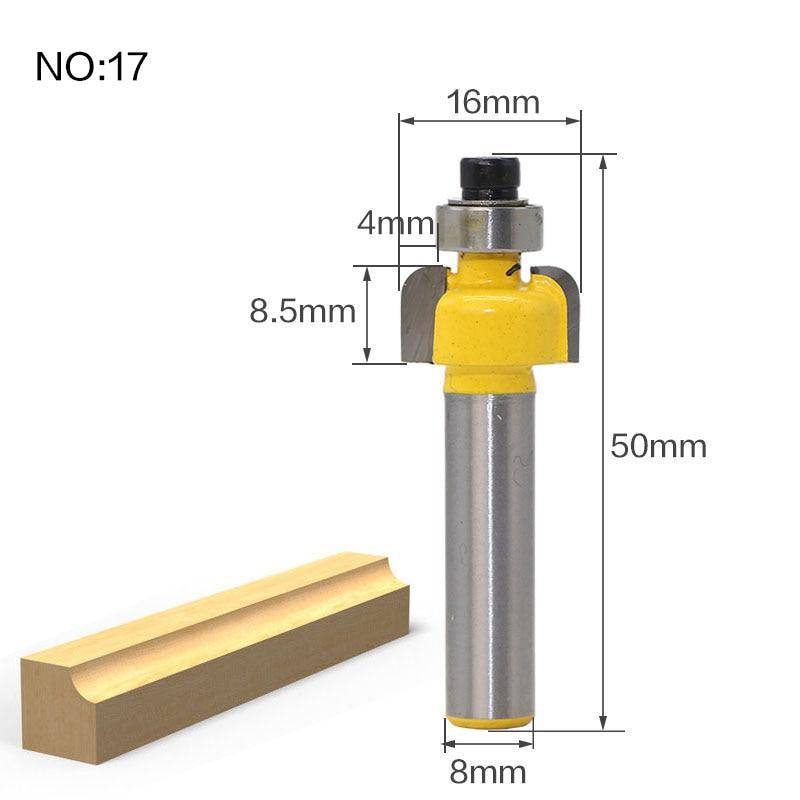 1 шт. 8 мм хвостовик триммера Ceaning Flush Trim древесины фрезы прямой конец Milll вольфрамовые фрезы для дерева Деревообрабатывающие инструменты