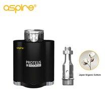 Kit de Cigarrillo electrónico Aspire Proteus EHookah Ecig e-hookah Vaporizador con 10 ml 0.25ohm Tanque Bobina E hookah kit sin Batería 18650