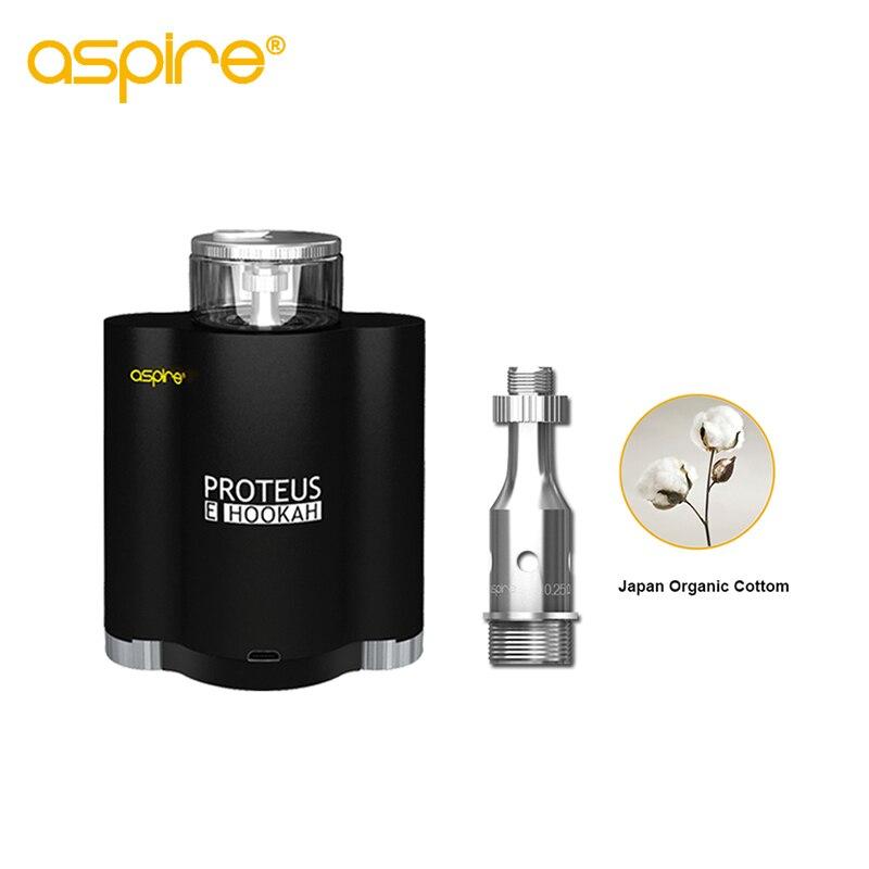Kit de cigarrillo electrónico aspire Proteus ehookah Ecig e hookah vaporizador con 10 ml tanque 0.25ohm bobina e hookah Kit sin 18650 batería