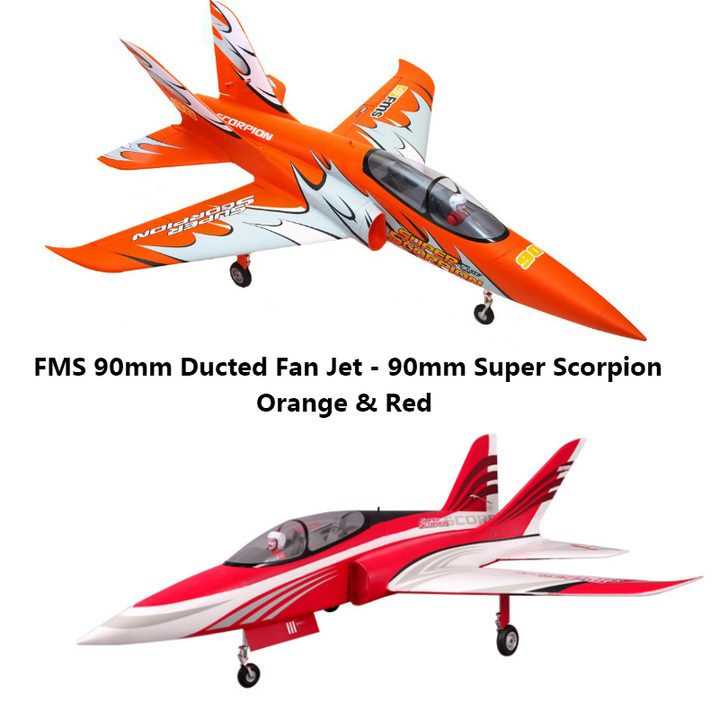 FMS 90mm Super Scorpion Ducted Fan EDF Jet 6S 7CH With Flaps Retracts EPO High Speed PNP RC Airplane Model Hobby Plane Aircraft