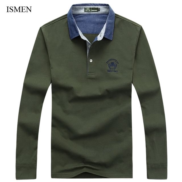 Men Polo Shirts For Spring Full Sleeve Man Casual Tops Male Camisa Polo Masculina Homme High Quality Brand Tees 23837