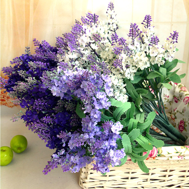 10 heads artificial lavender silk flower bouquet fake plants wedding 10 heads artificial lavender silk flower bouquet fake plants wedding home party decor for display christmas mightylinksfo