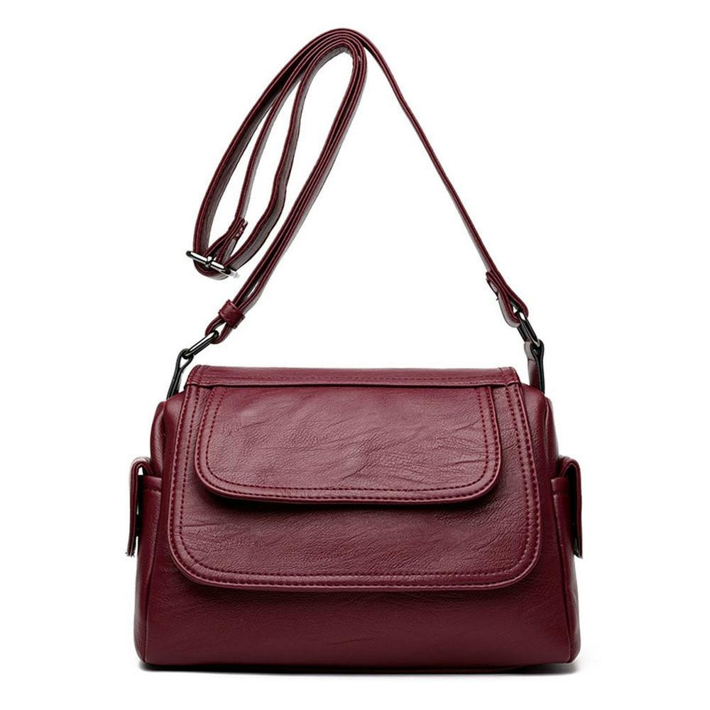 Fashion Woman Bag Leather Crossbody Bags For Women Messenger Female Shoulder Handbag 2018