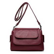 Fashion Woman Bag Leather Crossbody Bags For Women Messenger Female Shoulder Handbag 2018