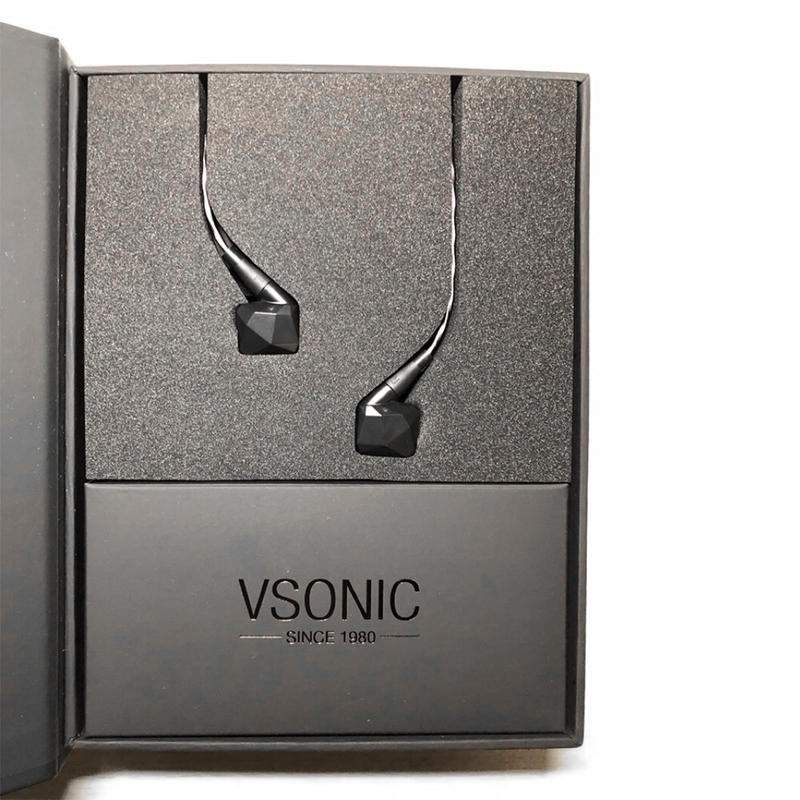 VSONIC GR09 2019 Version HIFI AUDIO Dynamic Driver Professional Noise Isolation In-Ear Earphone with MMCX Detachable cable