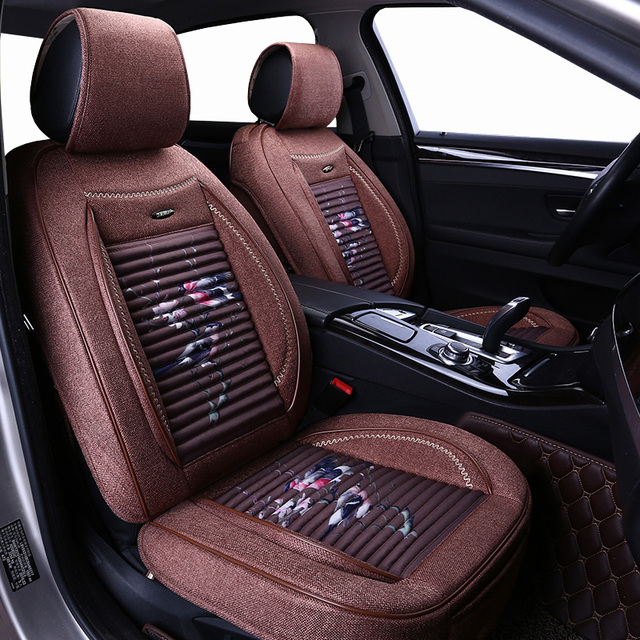 Front Rear Flax Universal Auto Seat Cover For Infiniti Fx35 Fx37 G35