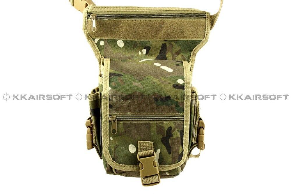 Военный Тактический поясной рюкзак США Тактический песок утилита поясная сумка WG-03-зеленый камуфляж BK - Цвет: Green Camo