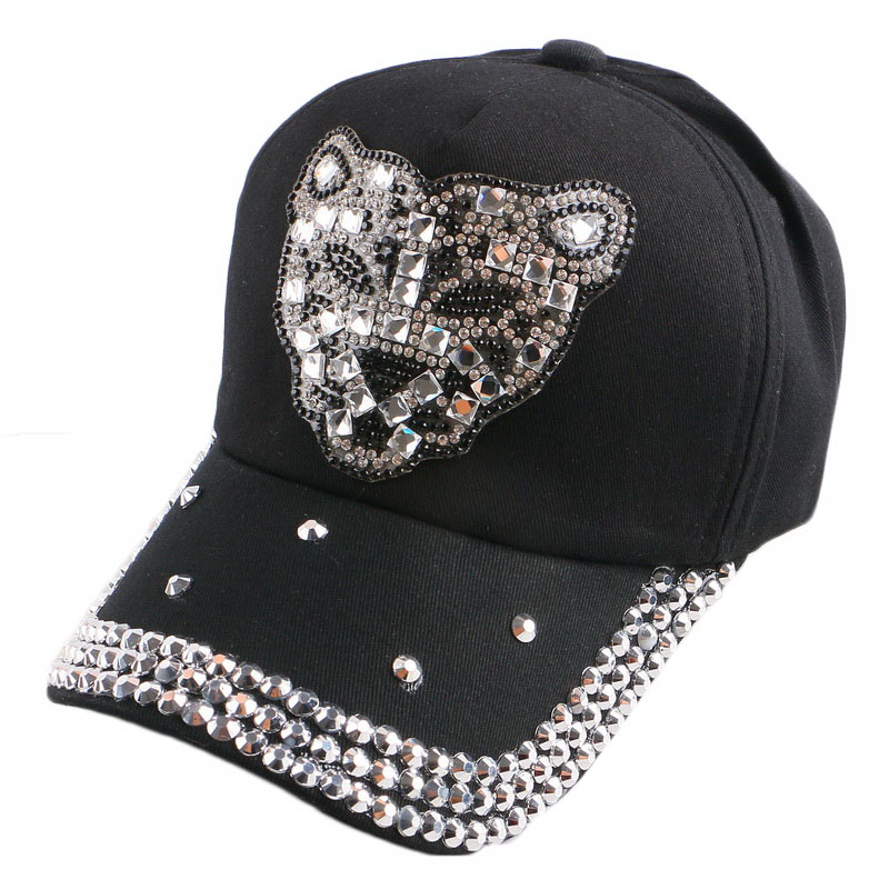 promotion popular children hip hop leopard novelty   baseball     cap   crystal rhinestone luxury boy girl summer snapback hat sunhat