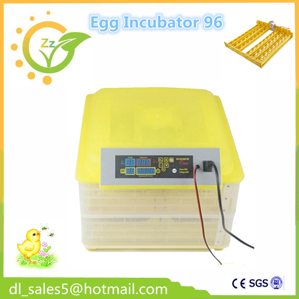 ФОТО Full automatic mini Chickens 96 Eggs Incubation Poultry brooder hatcher machine for hatching eggs