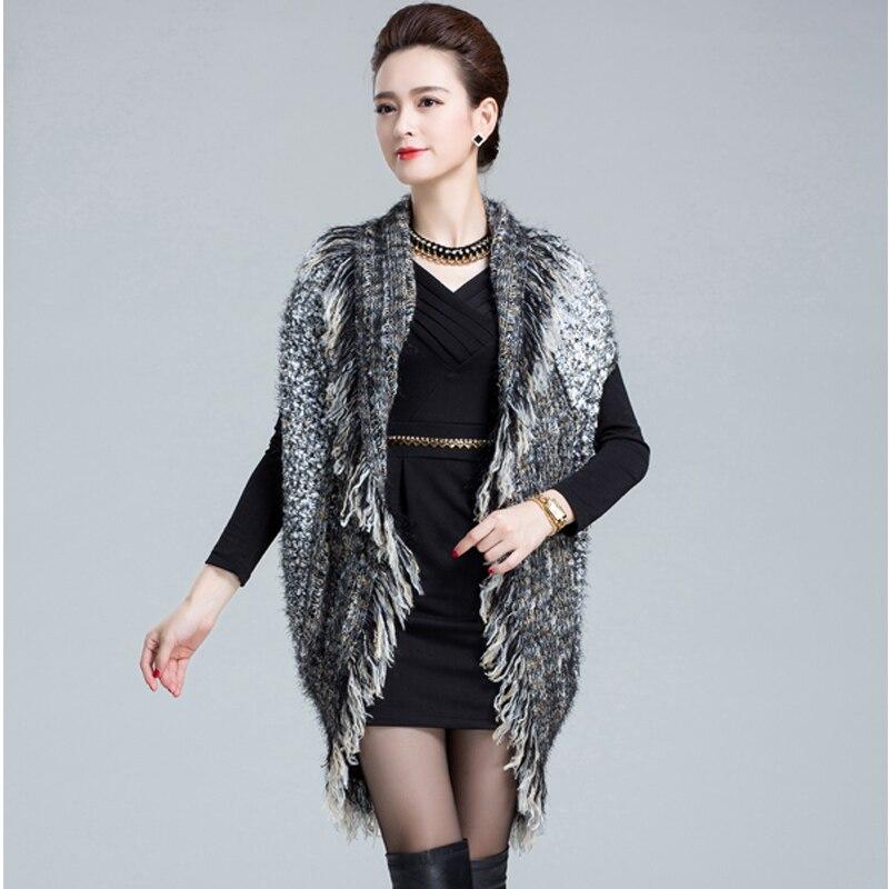 Free Shipping 2015 Fashion Ladies Tassel Knit Sweater Vest Women s Waist Coat Gilet Outerwear Coat