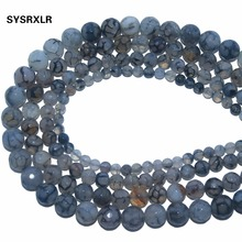 Wholesale New Faceted Black Dragon Vein Agates Natural Stone Loose Beads For Jewelry Making DIY Bracelet Necklace 6 8 10 12 MM