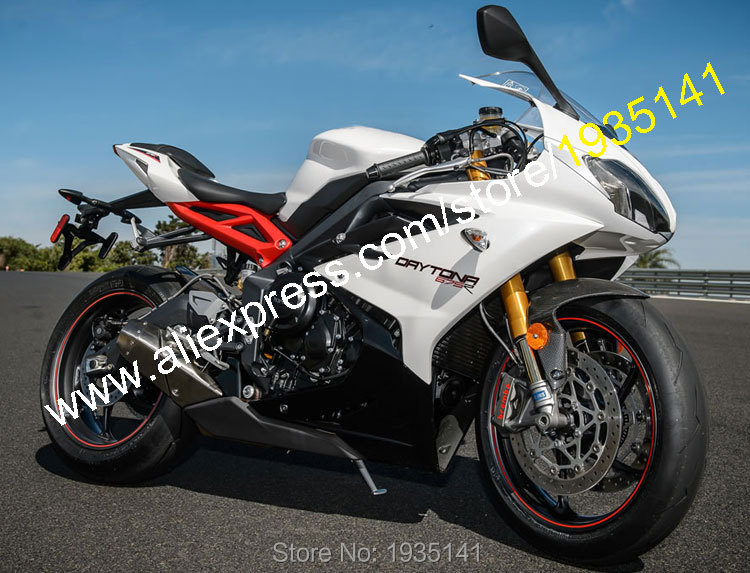 Hot Sales,For Triumph Daytona 675 Accessories 2013 2014 2015 Daytona675 13-15 White Black Aftermarket Sports Motorbike Fairing triumph майка compliment 15 shirt 02 2p