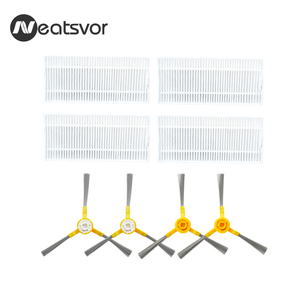 Image 1 - Replacement Kits for NEATSVOR X500/X600 Robot Vacuum Filter Side Brush