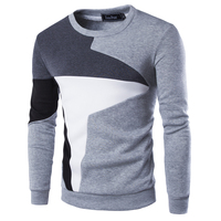 2016 New Autumn Fashion Brand Casual Sweater O Neck Patchwork Slim Fit Knitting Mens Sweaters And