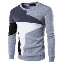 Новинка 2017 года осень модный бренд Повседневное толстовка с круглым вырезом Лоскутная Slim Fit Вязание Для мужчин S Толстовки и Пуловеры для женщин Для мужчин пуловер 9238